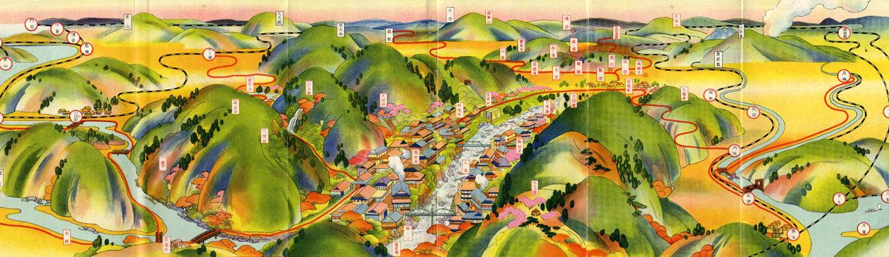 昭和初期の杖立の地図